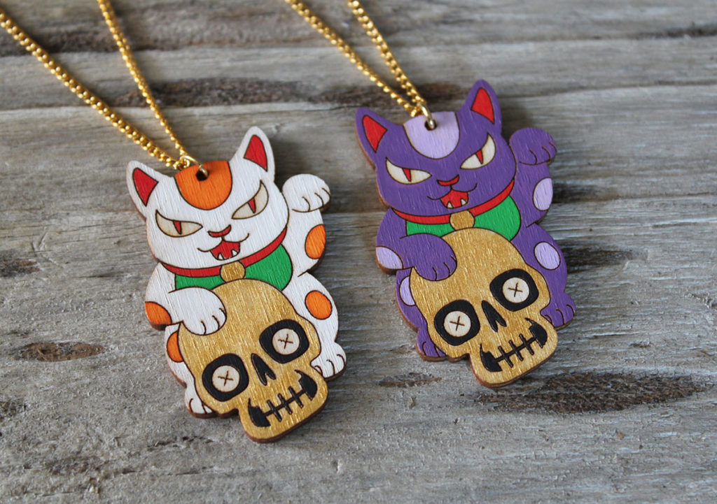 Unlucky Cat Necklaces